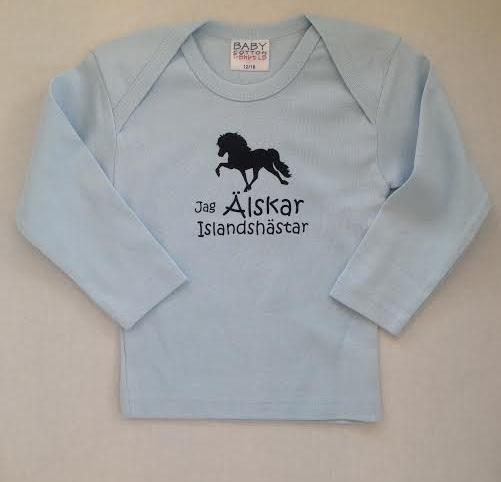 T-shirt baby - Jag Älskar Islandshästar