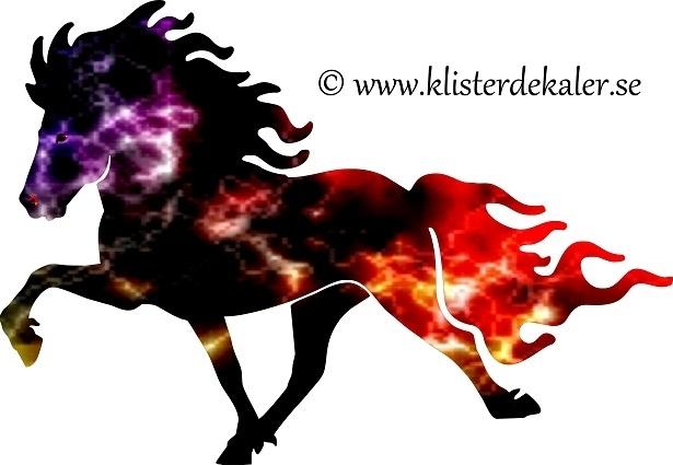 Dekal Enkel Islandshäst ELD