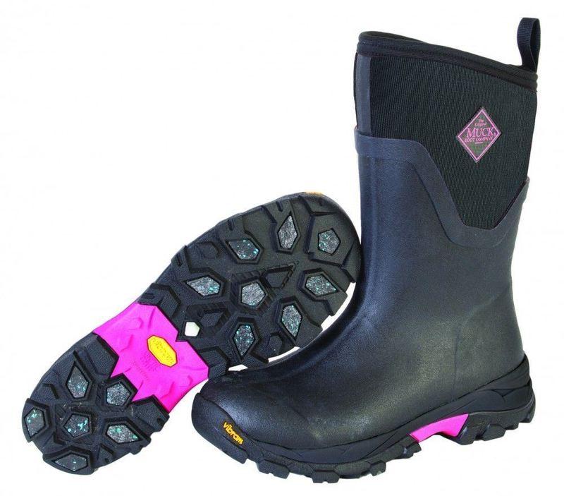 Muck Boots Sport ll Grip svart/rosa
