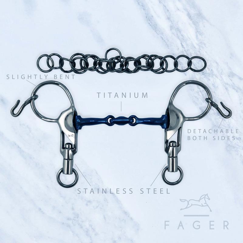 Fagers Islandstång Sabina 3-delad Titan korta skänklar