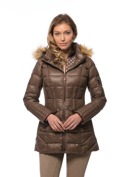 Goode Rider Glam Down Parka bronze