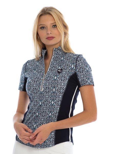 Goode Rider Ideal Show Shirt Blue Mosaic