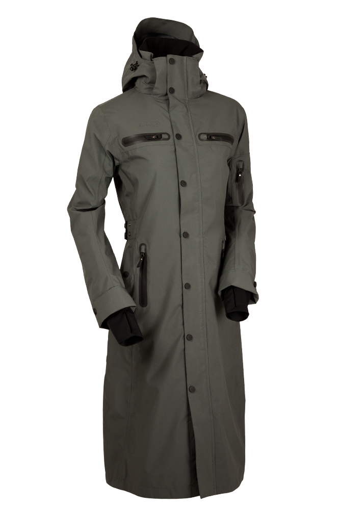 Uhip Long Trench Coat Urban Green