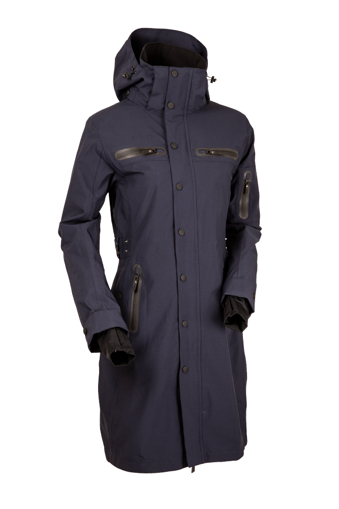 Uhip Mid Length Trench Coat Indigo