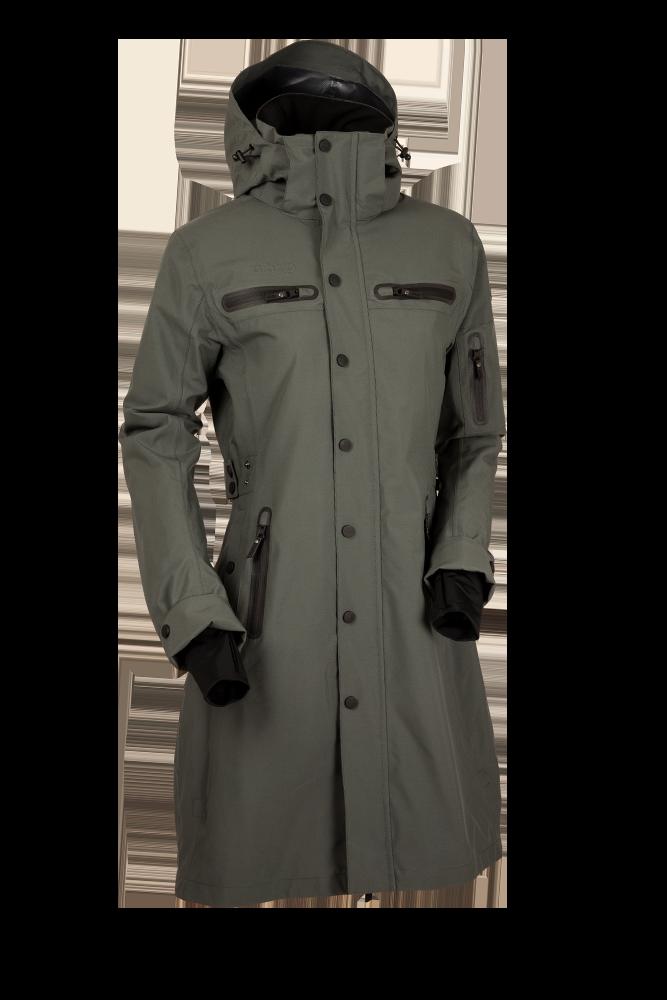 Uhip Mid Length Trench Coat Urban Green