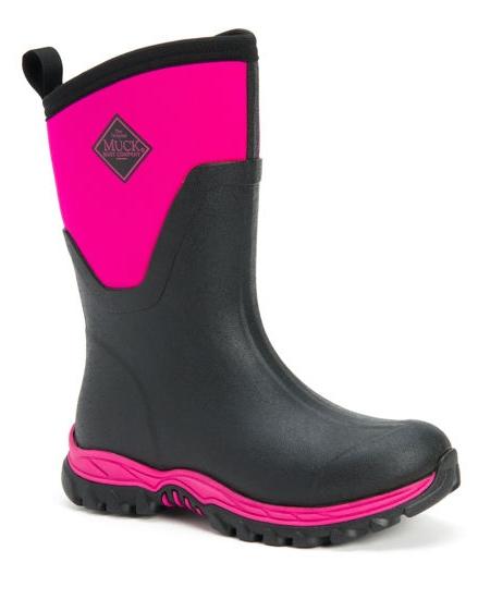 Muck Boots Sport ll Mid Dam Svart/Rosa