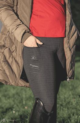 Cavallo Rid-Tights Printed Performence svart