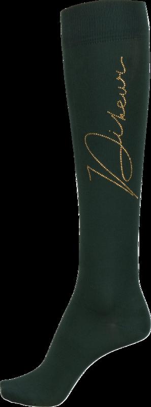 Pikeur Ridstrumpa With Rhinestuds grön