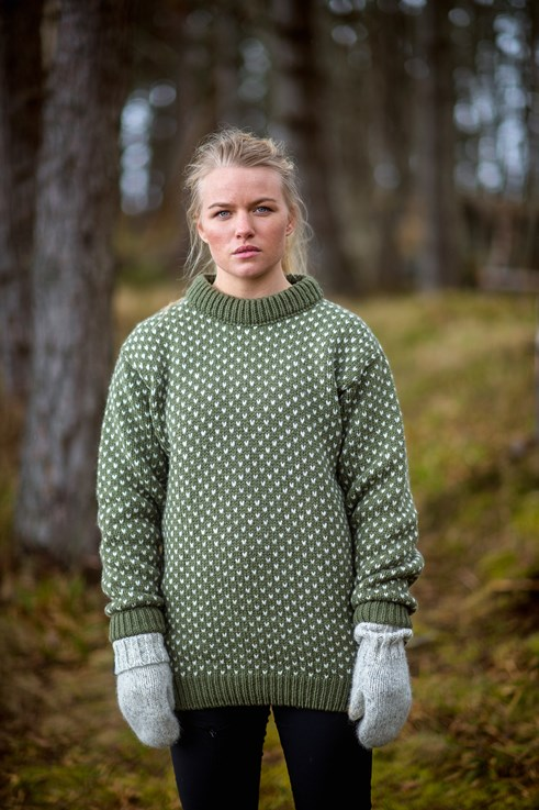 Devold Nordsjø Sweater Crew Neck Oliv