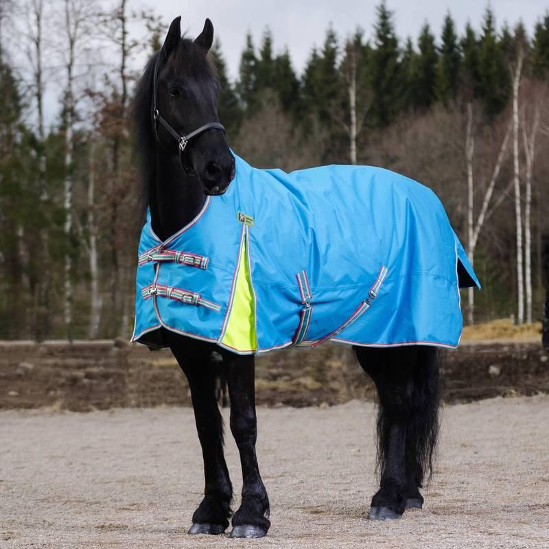 fleecefodrat regntäcke häst